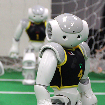 Robots playing soccer